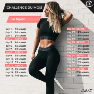 Challenge du mois avec bodytec club - le squat