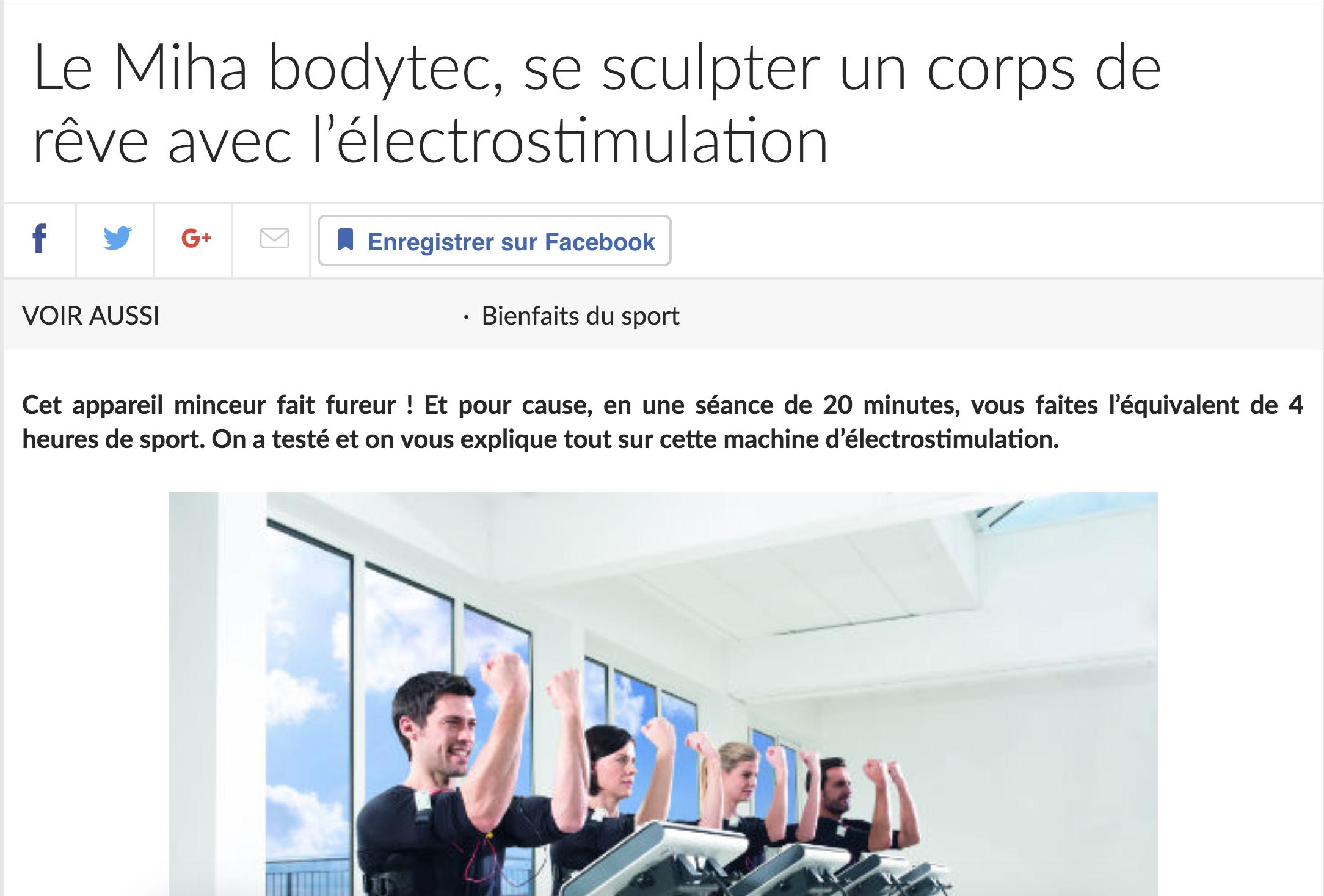 Doctissimo et la machine Miha Bodytec